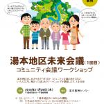 【地域づくり】湯本地区未来会議、開催!